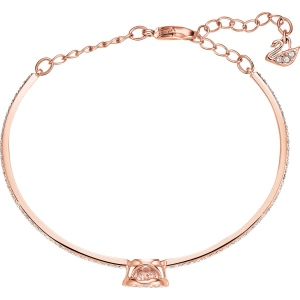 Bransoletka Swarovski - Sparkling DC Bangle Round, Rose Gold 5497483