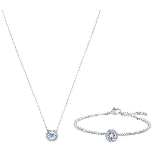 Zestaw Swarovski - Sparkling DC Set Blue, Silver 5506386