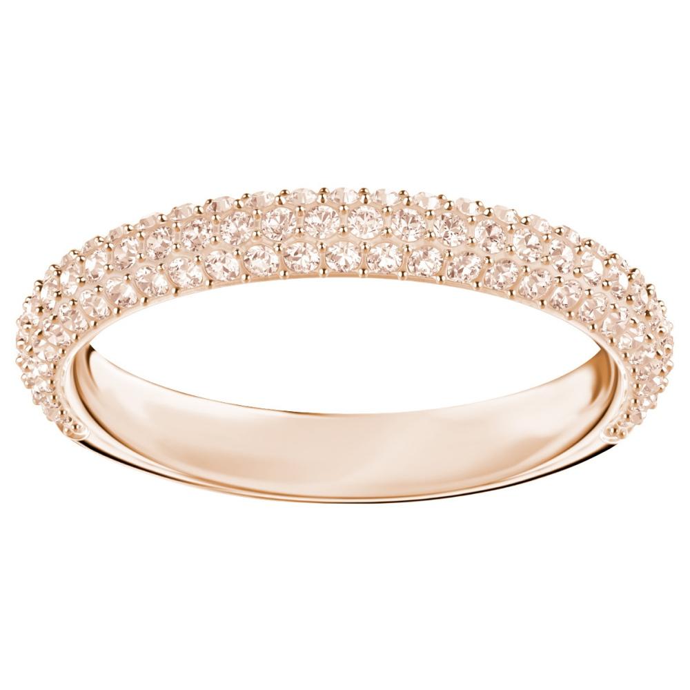 Pierścionek SWAROVSKI - Stone Mini Ring, Rose gold 5402443 52