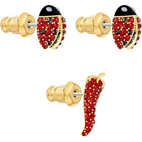 Zestaw kolczyków Swarovski - Lisabel Pierced, Red, Gold 5498791