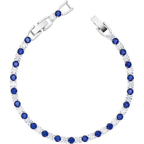 Bransoletka Swarovski - Tennis Deluxe Mix Blue, Silver 5506253