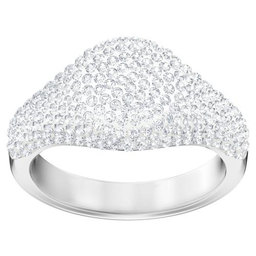 Pierścionek SWAROVSKI - Stone Signet, White 5393186 55