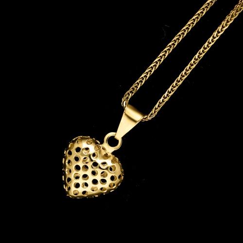 Złota zawieszka - Serduszko pr.585