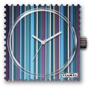 Zegarek STAMPS - Blue Stripes - WR 102541