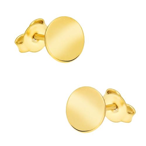 Złote kolczyki z kryształkami - Koła pr.333