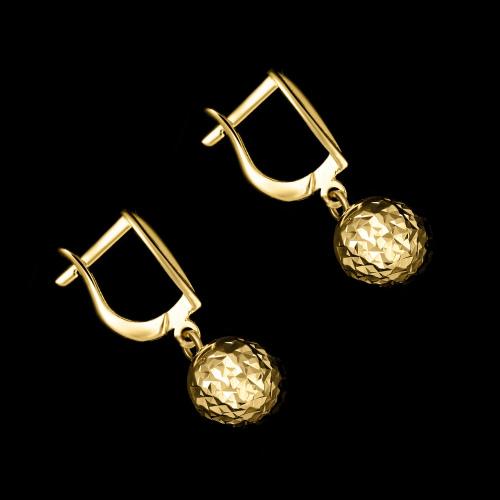 Złote kolczyki - Zdobione Koła pr.333