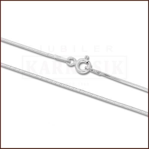 Srebrny łańcuszek - Żmijka 42cm pr.925