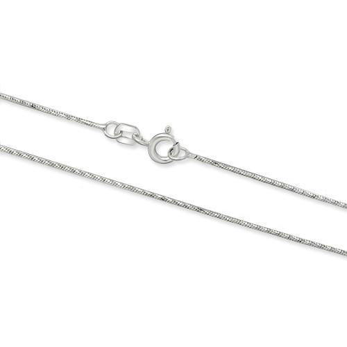 Srebrny łańcuszek - Żmijka Zdobiona 50cm pr.925