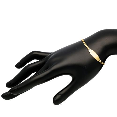 Złota bransoletka - Gucci 20cm pr.585