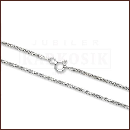 Srebrny łańcuszek - Popcorn 60cm pr.925
