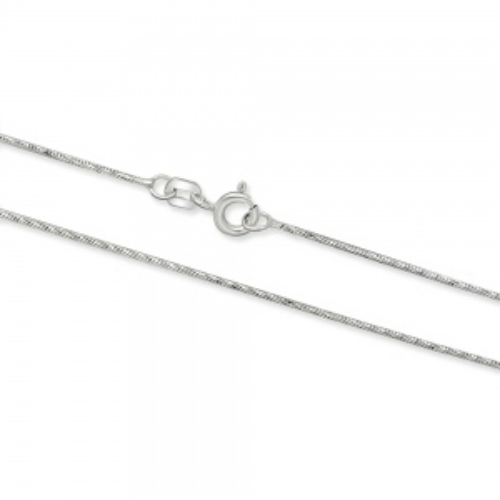 Srebrny łańcuszek - Żmijka Zdobiona 42cm pr.925