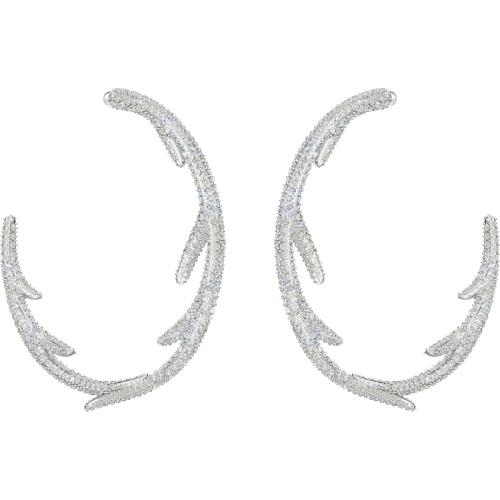 Kolczyki Swarovski - Polar Bestiary Hoop Hoops, Silver 5499626