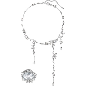 Zestaw Swarovski - Ice Crack Set, White, Ruthenium Plated 5489077