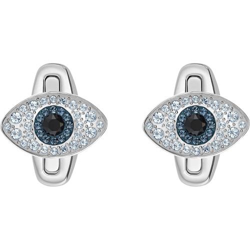 Swarovski spinki do mankietów - Evil Eye Cuff Links, Multi-Colored, Silver 5506081