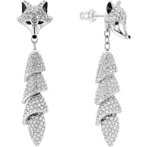 Kolczyki Swarovski - Polar Bestiary Drop Fox, Silver 5510844