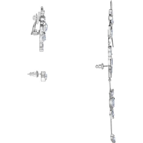 Kolczyki Swarovski - Ice Crack, White Ruthenium Plated 5489075