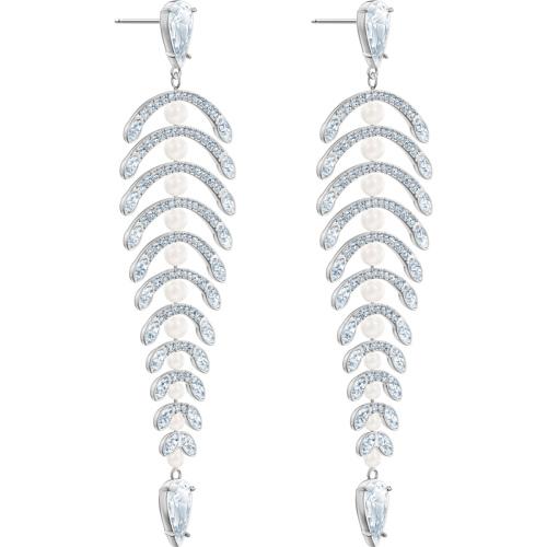 Kolczyki Swarovski - Polar Bestiary Chandelier Long, Silver 5489887
