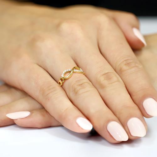 Złoty pierścionek z cyrkoniami - Nieskończoność pr.333