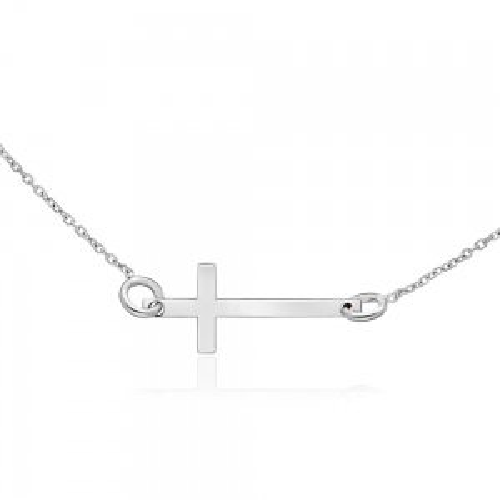 Srebrny naszyjnik celebrytka - Krzyżyk pr.925