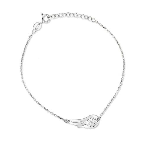 Srebrna bransoletka celebrytka - Skrzydełko pr.925