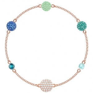 Swarovski - Remix Pop Strand Bracelet Green Rose Gold Plating 5479009