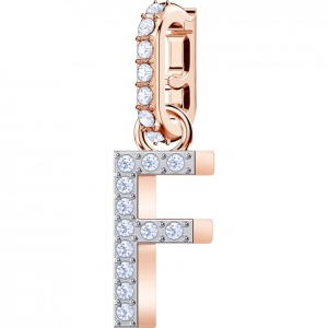 SWAROVSKI - Remix Collection Alphabet F Charm, Rose Gold 5437616