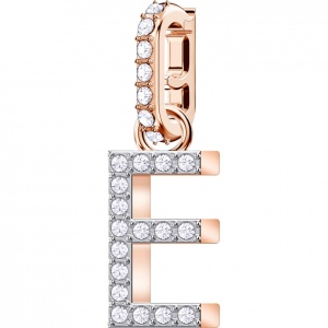 SWAROVSKI - Remix Collection Alphabet E Charm, Rose Gold 5437621