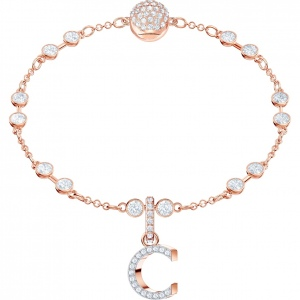 SWAROVSKI - Remix Collection Alphabet C Charm, Rose Gold 5437626