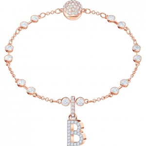 SWAROVSKI - Remix Collection Alphabet B Charm, Rose Gold 5437624
