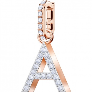 SWAROVSKI - Remix Collection Alphabet A Charm, Rose Gold  5434405