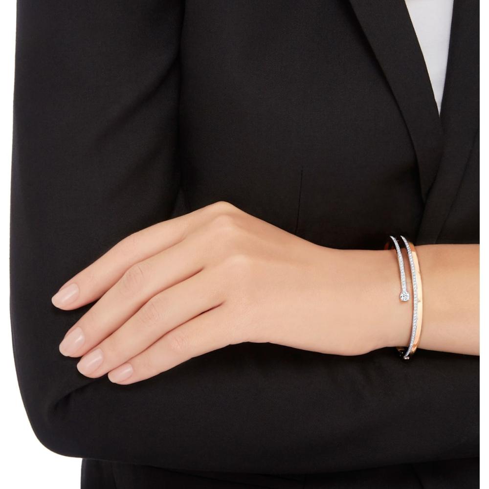Bransoletka Swarovski - Fresh Bangle, White, Rose-Gold Tone Plated S 5257554