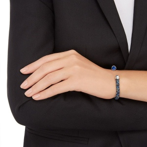 Bransoletka SWAROVSKI - Crystaldust Cuff, Blue 5255911