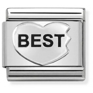 Nomination - Link 925 Silver 'BEST Heart' 330101/44