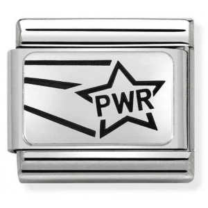 Nomination - Link 925 Silver 'Girl Power - PWR Star' 330109/19