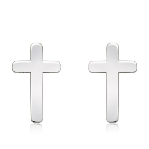 Srebrne kolczyki - Krzyżyki pr.925