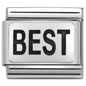 Nomination - Link 925 Silver 'BEST' 330109/27