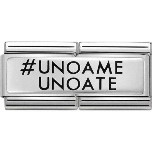 Nomination - Double Link 925 Silver 'Uno a Me Uno a Te' 330710/26