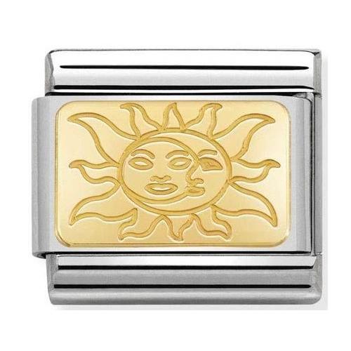 Nomination - Link 18K Gold 'Słońce' 030153/19