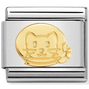 Nomination - Link 18K Gold 'Astronaut Cat' 030161/11