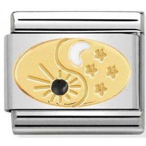 Nomination - Link 18K Gold 'Tao Sun and Moon' 030272/51