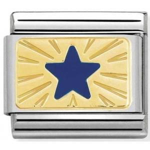 Nomination - Link 18K Gold 'Star Blue' 030284/41