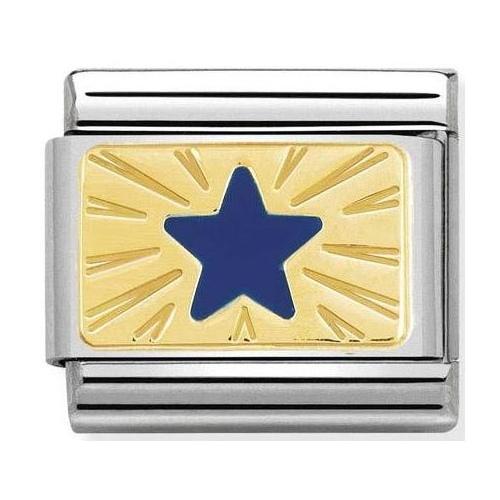 Nomination - Link 18K Gold 'Star Blue' 030284/41