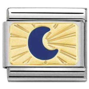 Nomination - Link 18K Gold 'Moon Blue' 030284/43