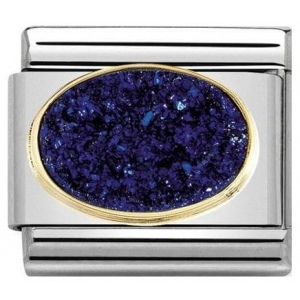 Nomination - Link 18K Gold 'Midnight Blue' 030518/04