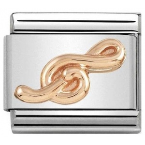 Nomination - Link 9K Rose Gold 'Treble Clef' 430106/13