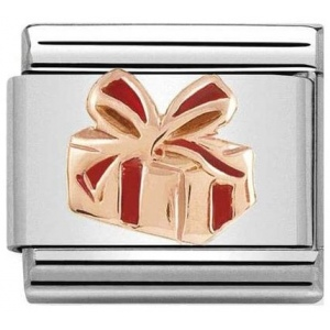 Nomination - Link 9K Rose Gold 'Gift with red enamel' 430203/03
