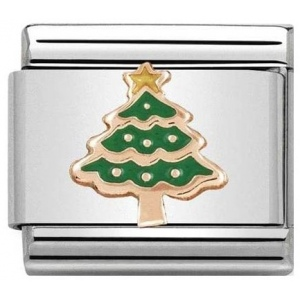 Nomination - Link 9K Rose Gold 'Christmas Tree' 430203/05