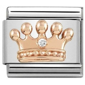 Nomination - Link 9K Rose Gold 'Crown' 430305/24