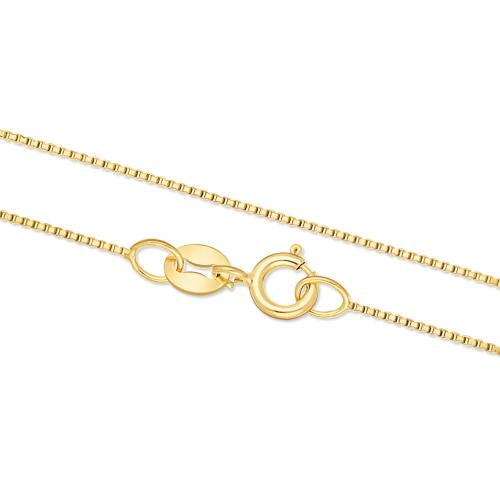 Złoty Łańcuszek Kostka 40cm pr. 333
