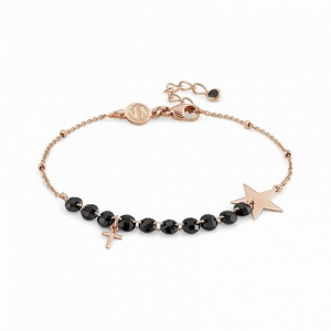 Bransoletka Nomination Rose Gold - Melodie Bracelet With Star And Cross 147700/004